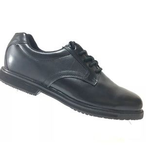 Other - Tredsafe Men's Black Leather Shoes Lace Up WorkOil